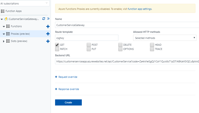 Use Azure Functions to Create a Simple API Gateway – Welcome